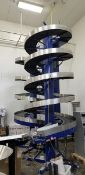 """AmbFlex Spiral Accumulation Conveyors, S/N 18689-04, Aprox. 16 'Tall x 6' Dia. with 16 """"Belt"""
