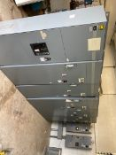 Square D 1200 Amp Motor Control Center, Model 6 with (1) 1200 Amp, Main (1) End, (3) 250 hp Soft