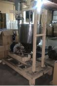 Colloid Mill on Cart with Reservoir, Scrape Surface Mixer, adjustable gap (LOCATED IN IOWA,