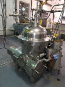 Used Westfalia Separator, Type MSA40-06-076, No. 1639 287, 4800 RPM, 230-460 V/3/60, 25 hp, Last