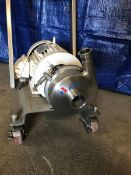Used APV 5 hp Centrifugal Pump, Sanitary S/S Construction, 460 V Motor, Mounted on Cart (Located
