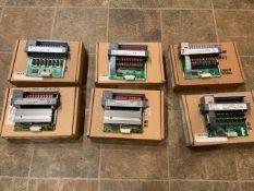 (6) Allen Bradley SLC 500 Output Modules, Cat #1746-0BP16, Ser C; Cat #1746-0A16, Ser D; (2) Cat #