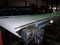 "Spantech Dual Lane S/S Sanitary Belt Conveyor, with Dual Intralox Belts - Each Belt 18"" W, Aprox. 11"