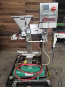 Unifiller 6-Head S/S Depositor with S/S Infeed Chute, Mounted on S/S Frame (Load Fee $300.00) (