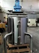 Cherry Burrell 100 Gal. Jacketed Agitated Kettle, National Board #3574, S/N E-487-90 with 2 hp S/S