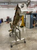 """Aprox. 8"""" x 9' S/A Incline Auger Conveyor with 1.5 hp Motor (Load Fee $200) (Located Warehouse"""