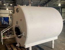 1000 Gallon Jacketed Insulated Stainless Steel Horizontal Storage Tanks, horizontal mixer. (