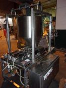 Raque 9-Head Piston Filler, Model PF1-9 with Traveling Head and Positive Shut-Off Valves, (New Old