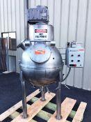 Hamilton 42 Gallon Spherical Stream Jacketed Blender Kettle. Last used for caramel candy. Model