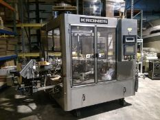 Krones Autocol Labeler, Model Autocol 747, S/N 279 with Hot Stamp Coder, Bar Code Reject, High Speed