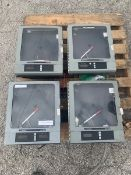 (4) Anderson AJ 300 Chart Recorders, Model 31020010002100, S/N 1032442-0010; Model 32000110002100,