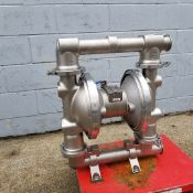 """Graco 2.5"""" S/S diaphragm pump,Model FD 3111, Series10D13A, 2.5"""" tri clamp connections on ports ("""