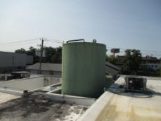 Damrow 15,000 gallon capacity, Freon refrigerated silo tank, with interior distortion. 1.5 HP