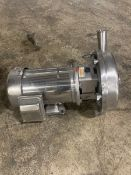 2x3 Alfa laval LKH 20 centrifugal pump, equipped with a sterling 5hp electric motor with 1760