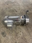 2x2.5 Alfa laval LKH15 all stainless centrifugal pump with a 3hp sterling motor with 3490 rpm ($50