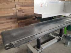 """Aprox. 18"""" wide x 96"""" long x 36"""" belt conveyor, stainless steel shelf (Located Fort Worth TX)"""
