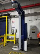 """Robopak Rotowrap CPDS1200 over head pallet wrapper, pre-strch, serial # KN/113986, 110"""" height,"""