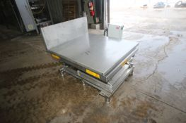 """S/S Scissor Lift Table, Platform Dims.: 48"""" L x 43-1/2"""" W, with 1 hp Hydraulic Pump (LOCATED IN"""