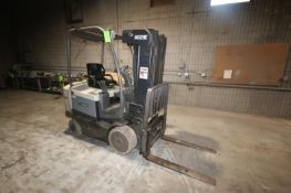 Crown 4,000 lb. Electric Sit-Down Forklift, Series FC 4000, S/N 9A140458, Truck Type E, with 4-Stage