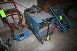 Miller AC/DC Arc/Tig Welder, S/N JB563521, 460 Volts, 3 Phase, Mounted on Portable Cart (LOCATED