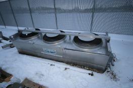 Evapco 3-Fan Refrigeration Condenser Unit, M/N SSTW3-01346-4HF, S/N 7-307947, 300 PSIG (NOTE: