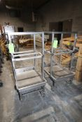 """S/S Portable Parts Carts, Overall Dims.: Aprox. 39"""" L x 27"""" W x 60-1/2"""" H (EACH), Mounted on S/S"""