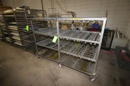 """S/S Portable Rack, with (4) Shelves, Overall Dims.: Aprox. 82"""" L x 36"""" W x 57"""" H (LOCATED IN"""