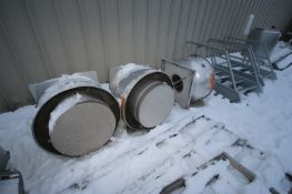 S/S Upward Exhaust Fans, 1-Greenheck, M/N CUBE-180-7, with 2-Others (LOCATED IN APPLETON, WI) (