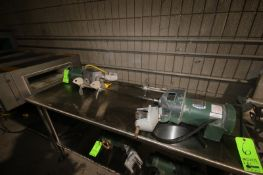 Lightnin Agitators, with 2-Prop S/S Agitation Shafts, with 0.3 hp Motors, 1725 RPM (LOCATED IN