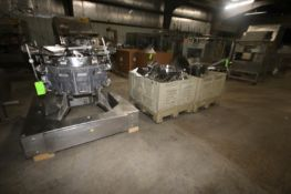 Ishida 14-Head Rotary Combination Weigh Scale, with S/S Chutes & Buckets, Mounted on S/S Frame (