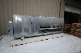 Mueller 2-Fan Refrigeration Condenser Unit, M/N ACU1A030M5N042PMF3B, S/N 211505, Includes I-Beam
