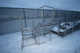 Ballymore Stairs, (2) 5-Step & (1) 4-Step, Some with S/S Portable Frames (LOCATED IN APPLETON,