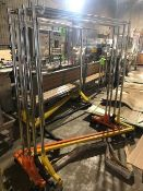"""Z-Type Clothes Racks, Overall Dims.: Aprox. 5' L x 24"""" W x 71"""" H (LOCATED IN APPLETON, WI) (Rigging,"""