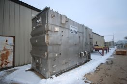 """Belt-O-Matic Dryer/Cooler Conveyor, Overall Dims.: Aprox. 17' L x 7' W x 128"""" H, S/S Design (LOCATED"""