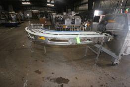 Multi-Conveyor 90 Degree Turn Conveyor, Overall Length: Aprox. 16' L, Belt to Floor Dims.: Aprox.