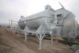 """S/S Rotary Blancher, Overall Dims.: Aprox. 20' L x 6' W x 132"""" H, with 1 hp S/S Clad Drive,"""
