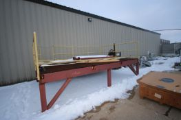 """Steel Platform, with Steel Grating & Hand Rails, with Overall Dims.: Aprox. x 16' L x 11' W x 44"""""""