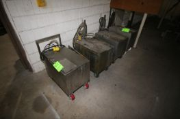 """S/S Mold Warming Tanks, Tank Dims.: Aprox. 24"""" L x 16-1/2"""" W x 16"""" Deep, Mounted on Portable"""