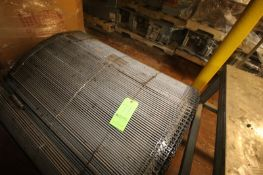 "S/S Mesh Conveyor Belt, Aprox. 43-1/2"" W Belt (LOCATED IN GRAND ISLAND, NE) (Rigging, Handling, &"