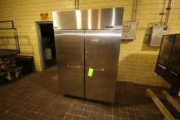"Norlake Double Door S/S Refrigerator, Overall Dims.: Aprox. 55"" L x 34"" W x 82"" H, Mounted on"
