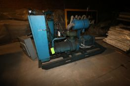 Quincy 75 hp Air Compressor, M/N Q350, S/N SI03WNW3LD 3545, with Square D Safety Switch, Mounted