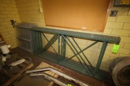 Pallet Racking Parts, Includes 4-Uprights, Aprox. 8' H, with 7-Cross Beams, Aprox. 8' L Pieces, with