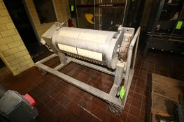 S/S Rotary Molder, with 5-Rows of 15 Molds, with Drive, Mounted on S/S Portable Frame (LOCATED IN
