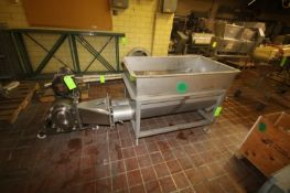 "S/S Dual Auger Blender, Blending Compartment Dims.: Aprox. 52"" L x 30"" W x 30"" Deep, with Waukesha"