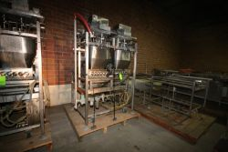 Raque 10-Head Piston Filler, M/N PF2.5-10, S/N 98-164-C, 460 Volts, 3 Phase, with S/S Control Panel,