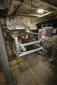 "Key Technology Inc. S/S Flume Conveyor, with (7) S/S Rolls, Aprox. 36"" W Rolls, with Drive,"