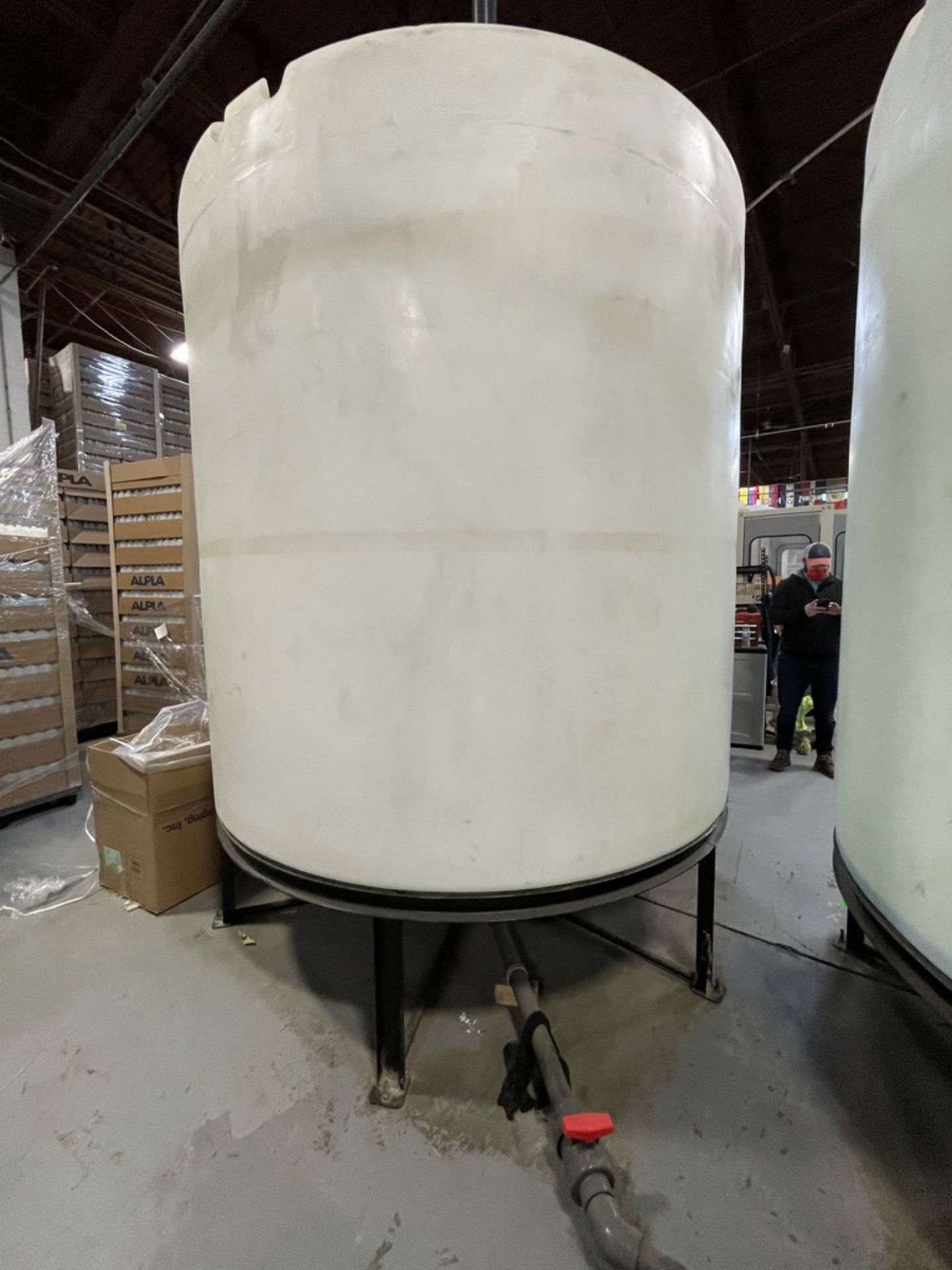 ACE ROTO MOLD APPROX. 2,200 GALLON TANK WITH STEEL FRAME
