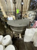 GROEN 250 GALLON S/S BOTTOM-JACKETED KETTLE WITH TOP MOUNT AGITATION, MODEL TA-250, S/N 0624S, 316