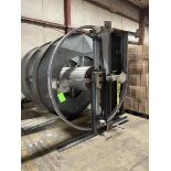 """SPIRAL CASE ELEVATING CONVEYOR, CURRENTLY SET TO ELEVATE TO 132"""" (ADJUSTABLE FEET)"""