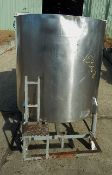 300 GALLON OPEN TOP JACKETED STAINLESS STEEL SANITARY MIXING TANK BY WILL FLOW CORP. SERIAL